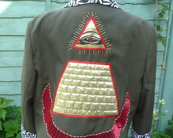 Upcycled desperately seeking Susan jacket UK 18, US 14