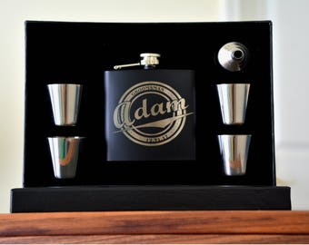Gifts for Him, Flask, Personalized Wedding Gift, Groomsmen Flasks, Custom Flask, Personalized Flask, Wedding Groom Gift, Engraved Flasks