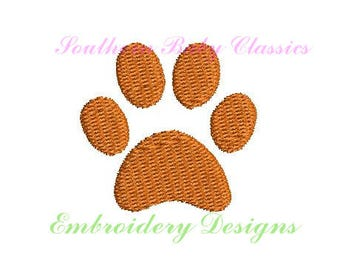 Tiger Paw Mini Fill Stitch Line Work Design File for Embroidery Machine Instant Download Cute Baby Girl Boy