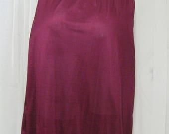 Wine red slip, burgundy half slip, 1980s vintage Deena, USA, size petite