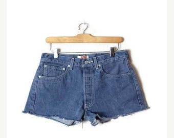 ON SALE Vintage LEVI'S  501 cut off  Denim Shorts/W28*