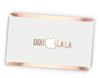 Ooh La La Stikē - Embossed Rose Gold Letters Decal and Monogram - Touch of Personality and glamour for your Macbook - Platinum Edition Stike