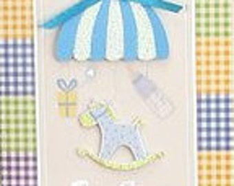 Baby Shower Baby Boy Horse Theme 3D Invitations Spanish 10 Ct