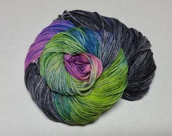 Lady Aurora Hand Dyed Superwash Merino Worsted Weight Yarn