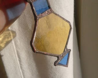 Hand made staind glass Christmas tree decoration