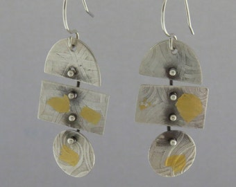 Silver and Gold Geometric Dangles 2