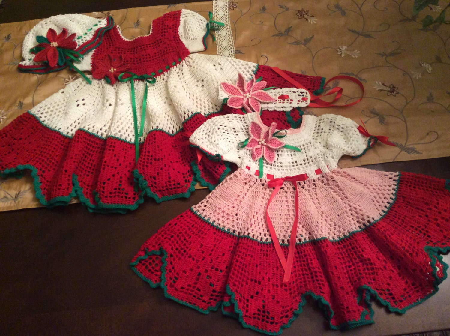 Poinsettia crochet christmas dress pattern baby pdf crochet this is a digital file bankloansurffo Gallery