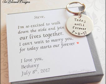 Personalized Groom Gift from Bride, custom wedding date, Personalized gift for Groom on wedding day, Wedding gift for the groom from bride