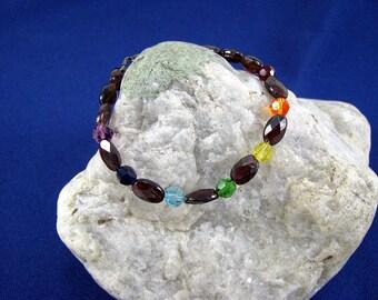 Genuine Garnet Chakra Bracelet