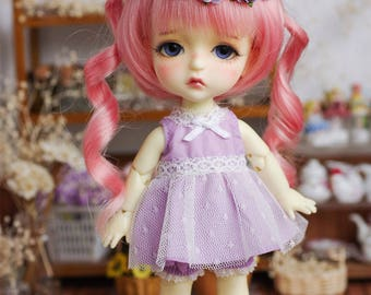 Lati Yellow/ Pukifee - Lace BabyDoll Rainbow Dress - Purple Color