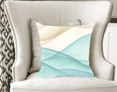 Sand and Sea Decorative Pillow, Soft Velveteen Nature Decor printed from Original Art - multiple sizes