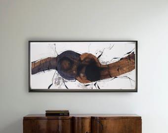 Horizontal abstract art, abstract painting, minimal abstract art, abstract, minimalist painting, art, ink art, abstract art painting, ooak