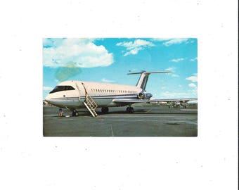 1970s Color Postcard of British Aircraft Model BAC 1-11 400 Series, Unposted, Brook-Parker Co. Publisher, Vintage Postcard, Travel Souvenir