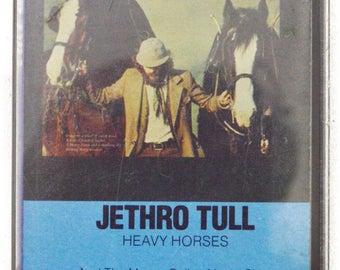 Vintage 70s Jethro Tull Heavy Horses Prog Rock Album Cassette Tape