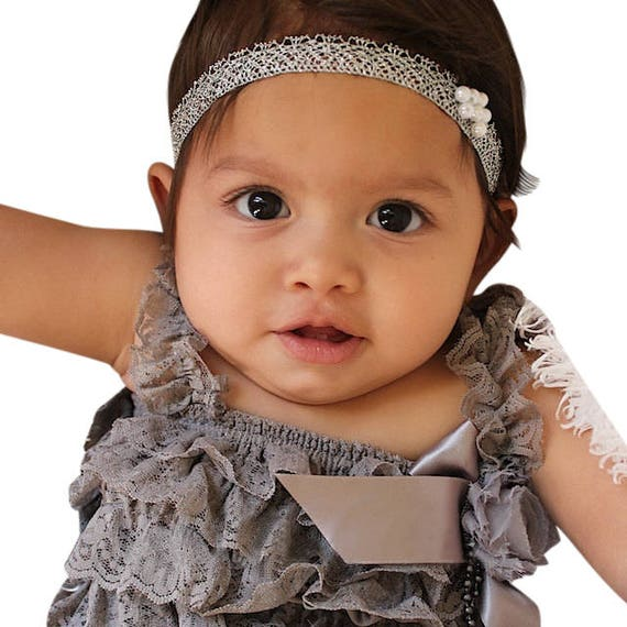 Silver Headband, Baby Girl Headband, Silver Headbands, Infant Headband, Baby Headband, Newborn Headband, Toddler Headband