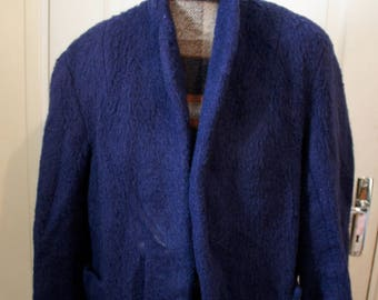Dark blue fleece jacket from the 1960s