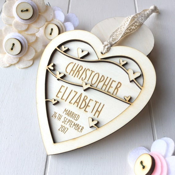 Wedding Day keepsake - Anniversary keepsake - Keepsake heart - Wedding gift - Couples gift