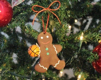 Basketball Gingerbread man Christmas ornament Basketball Christmas decoration Christmas gift for Basketball players holiday ornament