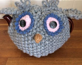 Hand Knitted Owl Tea Cosy