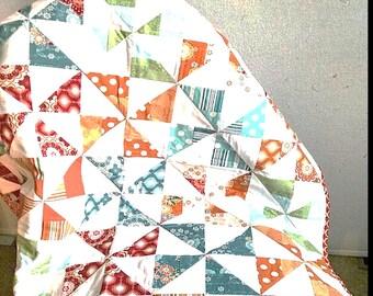 PATTERN Jelly Roll Pinwheel Quilt Pattern/Easy Quilt Pattern/Easy Baby Quilt Pattern/Jelly Roll Pattern
