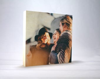 Instagram Photo Gift, Your Photo Printed on Wood, Home Decor, Photo Block, Photo Wood Print, Gift, Square Photo Wood, Square Photo Frame,