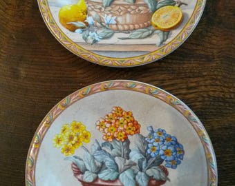 Miniture Floral still life display plates
