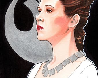 Princess Leia - hand drawn illustration