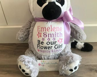Flower girl/ring bearer, design your own personalized Stuffed Animal. Choose from any in stock stuffie