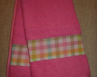 Holiday Hand Towels- Easter Plaid Hand Towels- Home Decor- Seasonal Hand Towels-Bathroom Hand Towels- Kitchen Hand Towels- Spring,