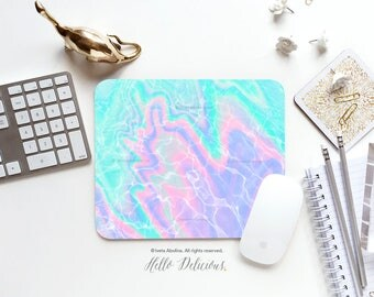 Pool Water Texture Mousepad Water Mouse Pad Poolside Mousepad Modern Mousepad Office Mousemat Rectangular Mousepad Round 24.
