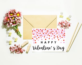 Happy Valentine's Day Card // Polka Dots