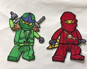 Lego Ninjago Iron On Patches - Choice of Character