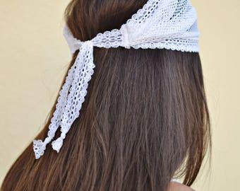 Wedding Headband, Net Headband, Bridesmaid Headband Handmade Headbands Hippie Headband Fashion Headbands Womens Head Wraps Vintage Headbands