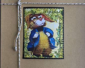 Handmade Cards - Vintage Stamp Art - Children's Literature Series I