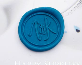 1pcs Personalized Initial Alphabet Gold Plated Wax Seal Stamp (WS437) / Custom Monogram Calligraphy Wedding Invitation Sealing Wax Stamp