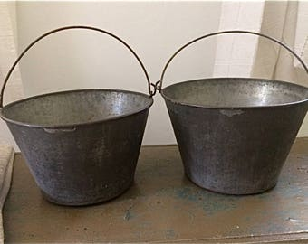 Early Primitive Tin  Bucket