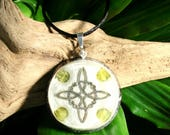 Jade Orgone Pendant -  Heart Chakra Healing and Abundance - Handmade Healing Jewellery, Spiritual Gift, Healer Necklace - Large
