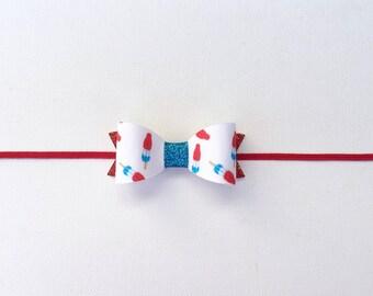 Bomb Pop Glitter Bow | Bomb Pop Bow | 4th of July Bomb Pop Glitter Bow | 4th Of July Headband  | 4th Of July Bow | Bomb Pop