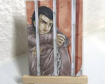 ACEO Original ATC Comic Manga Anime Fantasy Marker Figure Character Art Miniature Kakaokarte #606