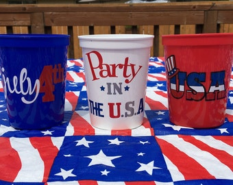 For The Fourth, Party Favors, Fireworks, Fourth Of July, Plastic Cups, Forth Of July, July 4th Decor, 4th Of July, 4th Of July Decor,