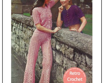 1970's Crochet Trouser Suit Pattern – PDF Instant Download