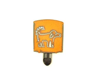 Scruffy Dog Rusty Metal Night Light