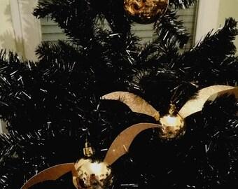 2x snitch Harry Potter Christmas balls/Xmas Chrismasball