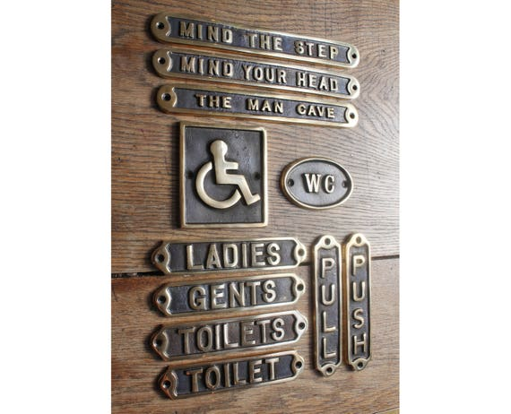 Like this item? - Brass Door Signs Toilet Toilets Ladies Gents Disabled