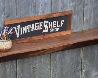 Thick Live Edge Walnut Mantel, Floating Shelf, Display Shelf