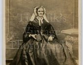 CDV Carte de Visite Photo Victorian Very Old Seated Lady Portrait by Chapple of Tiverton England