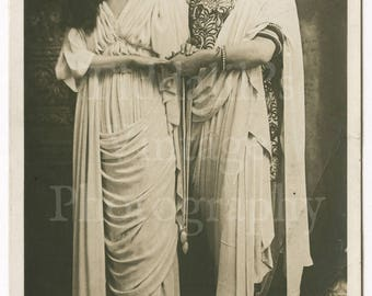 """Maud Jeffries and Wilson Barret in """"The Sign of The Cross"""" Edwardian Stage Film Actress Actor RPPC Postcard - Rotary Series - Unused Photo"""