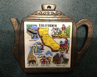 Vintage California State Trivet