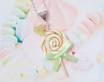necklace lollipop polymer clay