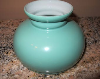 Vintage Small Green Glass Lamp Shade